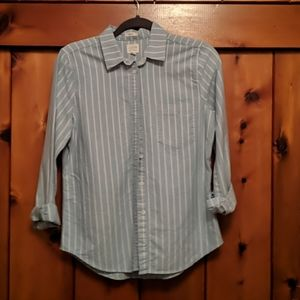 J Crew striped shirt boy fit size XS